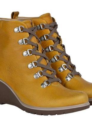 Кожаные утепленные ботинки ecco