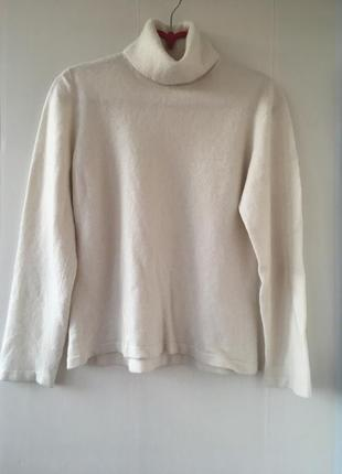 Тёплый кашемировый молочный гольф свитер, натуральный кашамир1