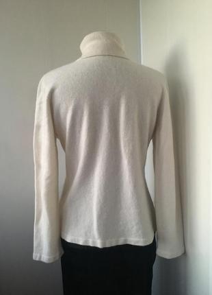 Тёплый кашемировый молочный гольф свитер, натуральный кашамир4
