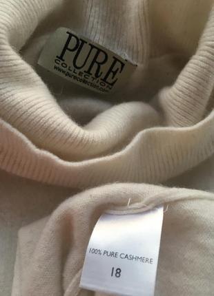 Тёплый кашемировый молочный гольф свитер, натуральный кашамир5
