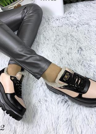 Кожаные зимние кроссовки в стиле balenciaga. 36-403