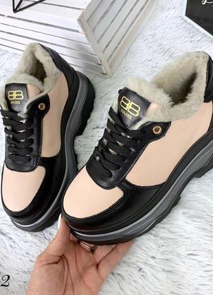 Кожаные зимние кроссовки в стиле balenciaga. 36-402