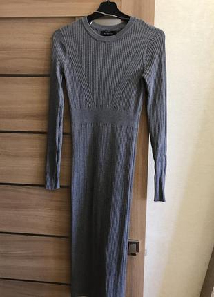Bershka платье серое1