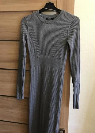 Bershka платье серое3
