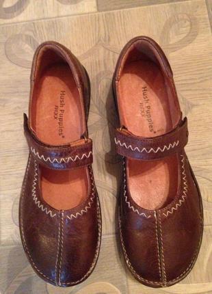Туфли мокасины женские hush puppies кожа (36 р-р.)1
