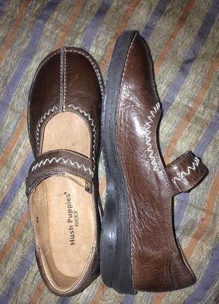 Туфли мокасины женские hush puppies кожа (36 р-р.)5