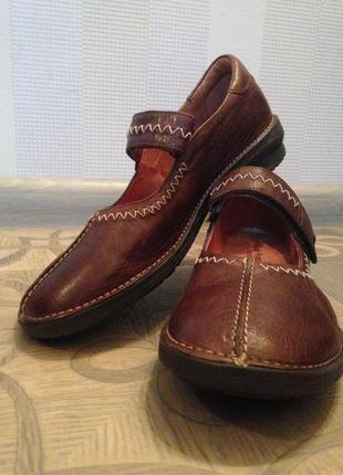 Туфли мокасины женские hush puppies кожа (36 р-р.)2