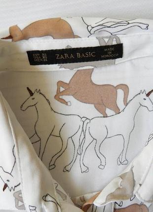 Стильная блуза zara единорог блузка3