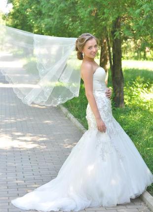 Свадебное платье рыбка1