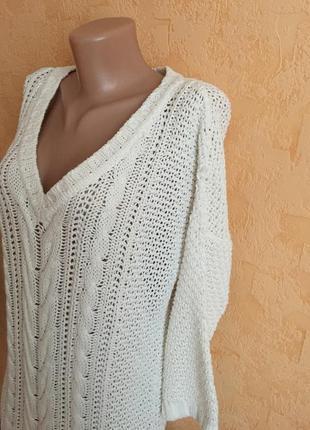 Белоснежное вязаное платье2