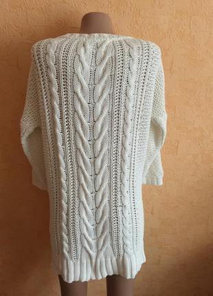 Белоснежное вязаное платье4