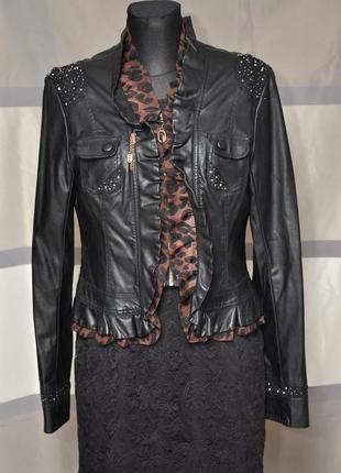 Оригинальная курточка из экокожи1