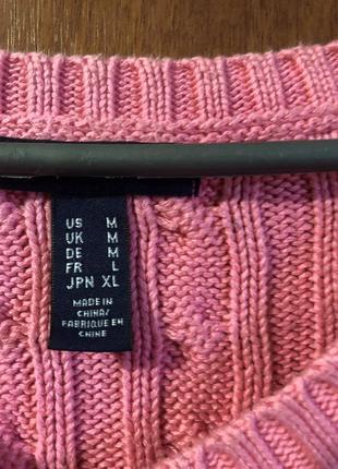 Тёплый, вязаный свитер2