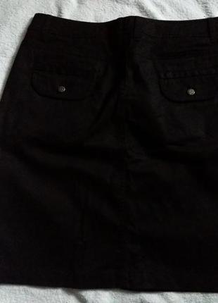 Черная джинсовая юбка4