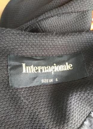 Черный жакет пиджак рубчик классика кардиган воротник стойка подклада офисный стиль4
