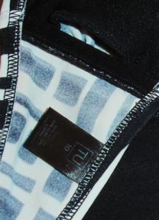 Верх от купальника раздельного топ бандо лиф бюст чашка 75-80 а в черный белый3