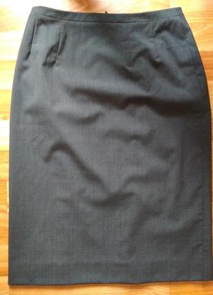 Люкс бренд шерстяная юбка карандаш,р.363