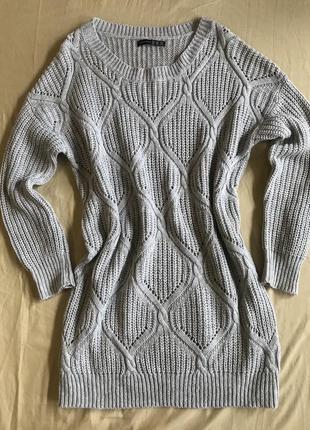 Удлинённый свитер1