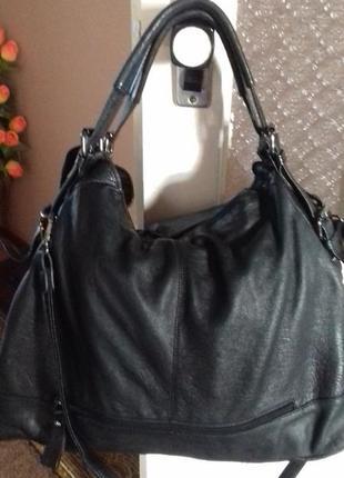 Велика шкіряна ( кожаная ) сумка1