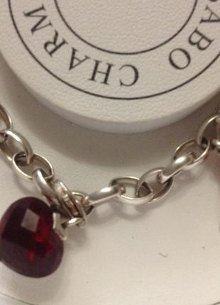 Thomas sabo серебряный браслет с шармами подвесками3