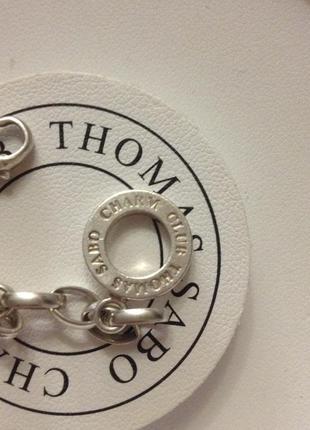 Thomas sabo серебряный браслет с шармами подвесками4