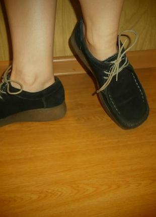 Надежные  мягкие ботиночки/нат.замш/26 см/total comfort1