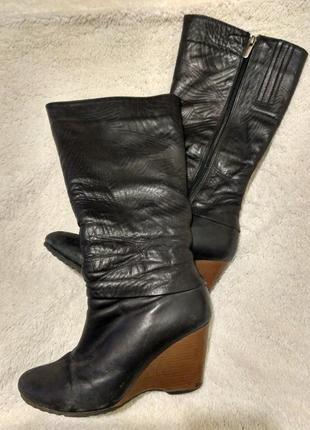 Зимние сапоги кожаные на меху2