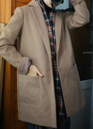 Обалденное кофейное пальто oversize atmosphere2