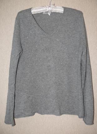 Модный свитер в камнях, 100% кашемир1