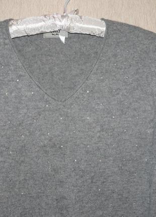 Модный свитер в камнях, 100% кашемир5