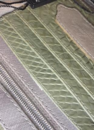 Клатч конверт оливковый натуральная кожа4