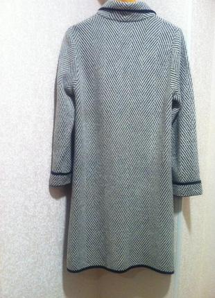 Полушерстяной кардиган пальто кофта  размер m-l       brend debat griro2