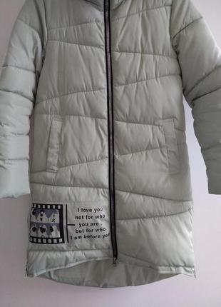 Пальто женское, оливковое