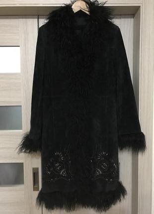 Шикарное трендовое пальто, дублёнка, натуральная замша!1