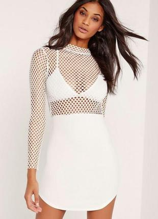 Шикарное платье с полупрозрачным верхром1