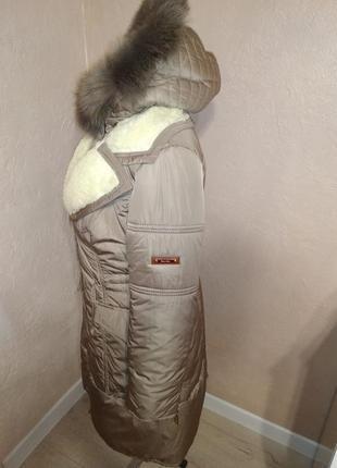 Стильная зимняя куртка парка с натуральным мехом 44-50р3