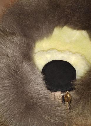 Стильная зимняя куртка парка с натуральным мехом 44-50р4