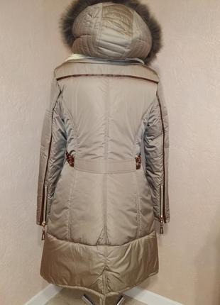 Стильная зимняя куртка парка с натуральным мехом 44-50р5