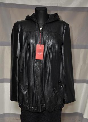 Курточка свободного кроя из экокожи1