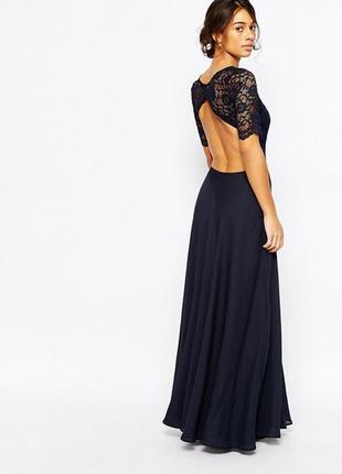 Платье с кружевным лифом john zack petite2