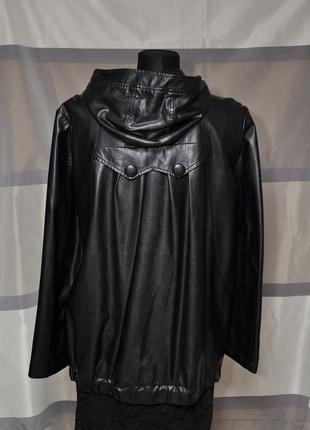 Курточка свободного кроя из экокожи2