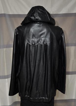 Курточка свободного кроя из экокожи3