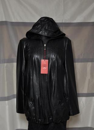 Курточка свободного кроя из экокожи5