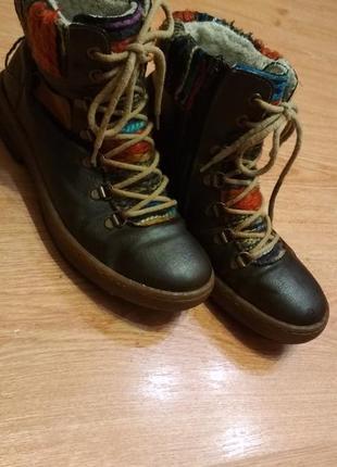 Зимние ботинки на натуральной цыгейке rieker