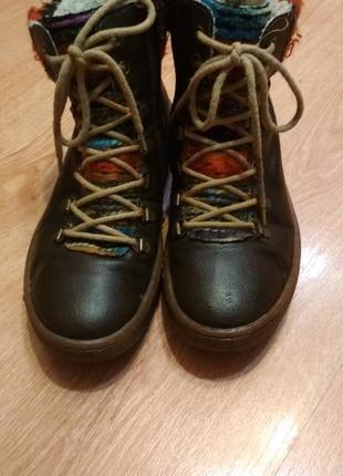 Зимние ботинки на натуральной цыгейке rieker2