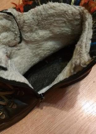 Зимние ботинки на натуральной цыгейке rieker5