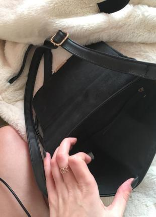 Сумка с вышивкой клатч на длинном ремешке zara3