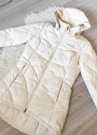 Белая спортивная зимняя куртка пуховик merrell m-l1