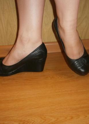 Удобнейшие туфли/нат.кожа/24-24,5 см