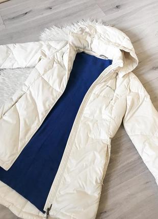 Белая спортивная зимняя куртка пуховик merrell m-l2